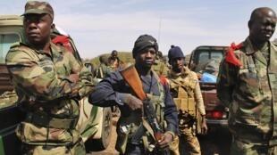 Malian sodiers in Gao this week