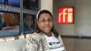Marinete da Silva, mère de la jeune Marielle Franco, conseillère municipale de Rio, assassinée à Rio de Janeiro, au Brésil, le 14 mars 2018.