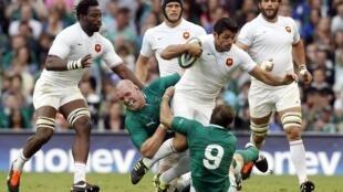 """El equipo de Francia frente al de Irlanda en las series """"Guinness"""" el pasado 20 de agosto"""
