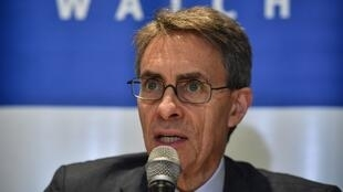 Le directeur général de Human Right Watch, Kenneth Roth, lors d'une conférence de presse à Sao Paulo au Brésil le 12 janvier 2020.