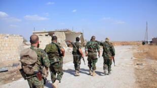 Солдаты армии Башара Асада в провинции Алеппо, 16 октября 2015