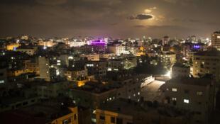 Gaza by night, August 2017