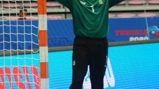 Yassine Idrissi, gardien et capitaine de la sélection marocaine de handball.
