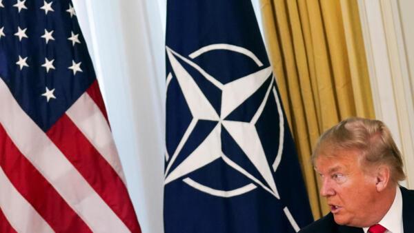 O Presidente dos EUA, Donald Trump,  antes da abertura da Cúpula da OTAN em Watford, Londres, Grã-Bretanha, 03/12/2019