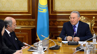 Лоран Фабиус и Нурсултан Назарбаев, Алма-Ата, март 2013 года