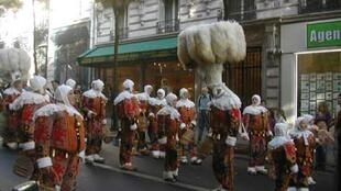 The Vendanges parade in 2008