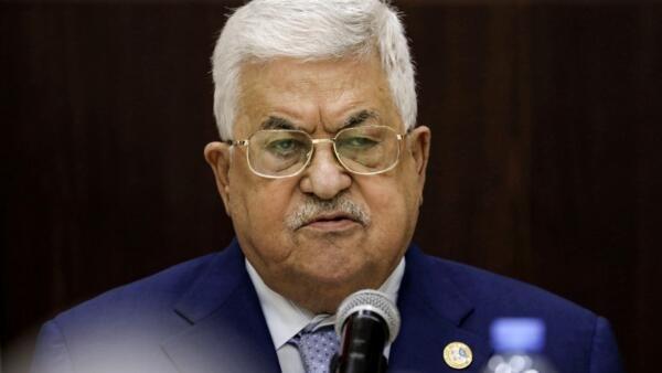 O presidente da Autoridade Palestina, Mahmoud Abbas, em uma reunião em Ramallah