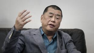 Le magnat de la presse Jimmy Lai lors d'une interview à Hong Kong, 19 juin 2015.