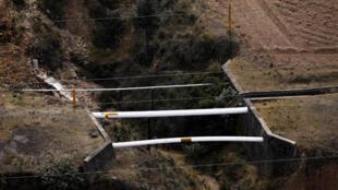 Un oléoduc dans l'État d'Hidalgo, au Mexique. Les vols de carburant sont en constante augmentation dans la région.