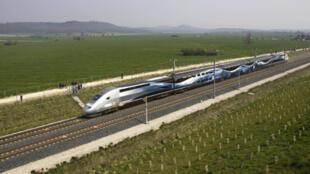 A TGV high-speed passenger train.