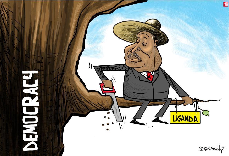 Shugaban Ugand Yoweri Musevini na keta 'yancin demokradiya (23/08/2018).