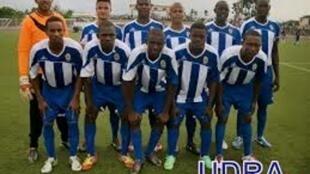 Equipa de futebol, UDRA, campeão santomense 2014, imagem da téla nón, com a devida vénia