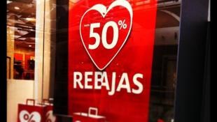 Espanha já registra inflação negativa há cinco meses.