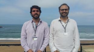"""Ricardo Martensen e Felipe Tomazelli, diretores do documentário """"Cine São Paulo""""."""