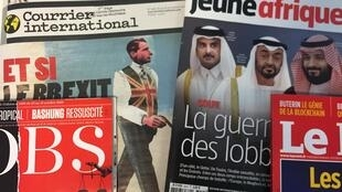Capa das revistas francesas 26-10-2018