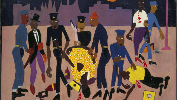 'Moon over Harlem' by William H.Johnson (1943-1944)