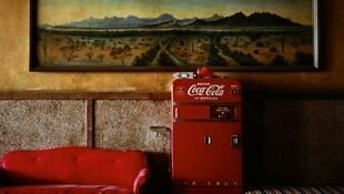 """Lounge Painting # 1"", Gila Bend, Arizona, 1983, Wim Wenders"