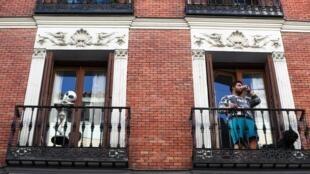 Habitantes en cuarentena, Madrid, 27 de marzo de 2020.