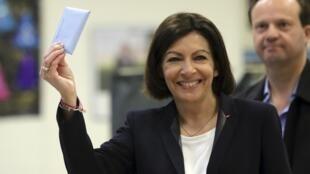 Будущий мэр Парижа Анн Идальго (Anne Hidalgo) 30 марта 2014.