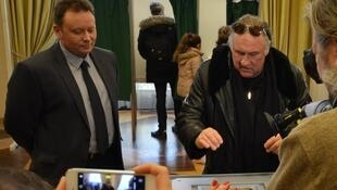 Жерар Депардье впервые голосует за президента России, Париж, 18 марта 2018 года.