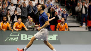 Adrian Mannarino clinched the third point for France in their victory over the Netherlands.