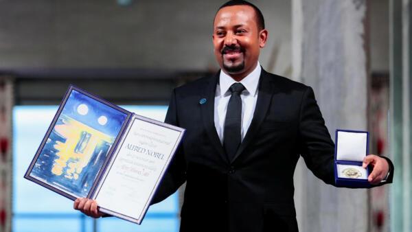 Le Premier ministre éthiopien, Abiy Ahmed, lors de la remise de son prix Nobel de la paix, le 10 décembre 2019.