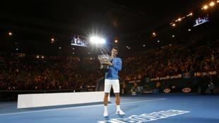O tenista sérvio Novak Djokovic venceu o Aberto da Austrália.