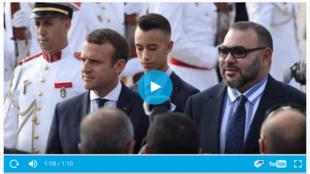 法國總統馬克龍6月14日到達摩洛哥