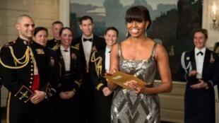 2月24日晚,美国第一夫人在白宫宣布《离开德黑兰》夺得本年度奥斯卡最佳影片奖。