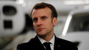 Emmanuel Macron in Deols on February14, 2019.