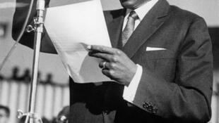 Léopold Sédar Senghor, le 9 décembre 1963, à Dakar.
