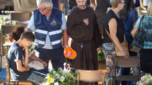 Tang lễ các nạn nhân vụ động đất ở Ascoli Piceno, Ý, ngày 27/08/2016.