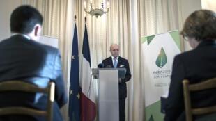 Le ministre français des Affaires étrangères Laurent Fabius à Pretoria, le 21 novembre 2015.