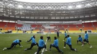 O estádio do CSKA Moscou passa por reformas de adaptação à Copa do Mundo de 2018.