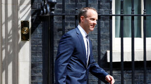 英國外交大臣拉布,資料圖片