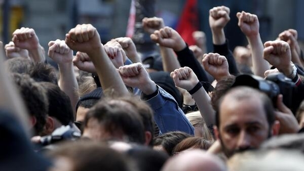 Left-wingers pay tribute to Clément Méric on Thursday evening