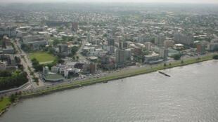 Une vue aérienne de Libreville au Gabon.