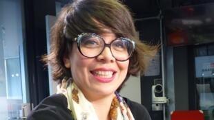 Oleñka Carrasco en los estudios de RFI