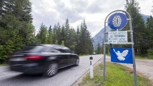 Sur une route de la région de Tyrol, en Autriche.