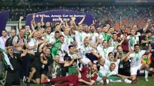 Đội tuyển Algérie giành Cúp vô địch châu Phi CAN 2019, tối ngày 19/7/2019 trên sân vận động Quốc tế Cairo
