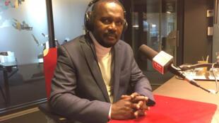 Aboubacar Sylla, porte-parole du gouvernement guinéen dans les studios de RFI.
