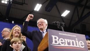 Dan takaran shugabancin Amurka Bernie Sanders yayin yakin neman zabe