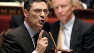 Patrick Devedjian, à l'Assemblée nationale en octobre 2009, alors ministre de la Relance économique.
