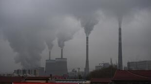Usina elétrica movida a carvão perto de Datong, na província chinesa de Shanxi, no norte da China.