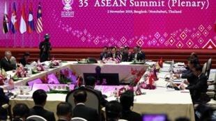 Một phiên họp toàn thể các lãnh đạo ASEAN tại Thượng Đỉnh Bangkok (Thái Lan) ngày 02/11/2019.