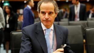 Rafael Mariano Grossi, tân lãnh đạo Cơ quan Năng lượng Nguyên tử Quốc tế (IAEA) tại trụ sở của tổ chức, Vienna, Áo, ngày 21/11/2019.