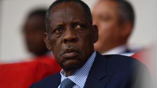 Le Camerounais Issa Hayatou, ex-président de la CAF, en février 2017.