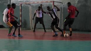 L'équipe de Guinée de maracana à l'entraînement.