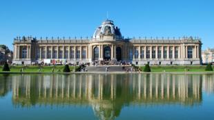 Vue du musée royal d'Afrique centrale, à Tervueren en Belgique.