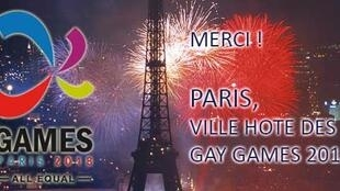 Paris says thank you for being awarded the Gay Games